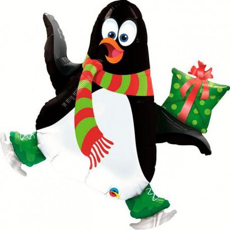 """Globos de foil de 14"""" (36Cm) Pinguino Patinador"""