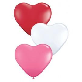 """Globos de 6"""" colores surtidos corazones"""