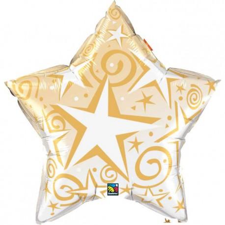 """Globos de foil Estrella de 20"""" (50Cm) Starblast Oro"""