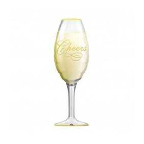 """Globos de foil Mini de 16"""" x 7"""" (41Cm x 18Cm) Copa Champagne Anagram"""