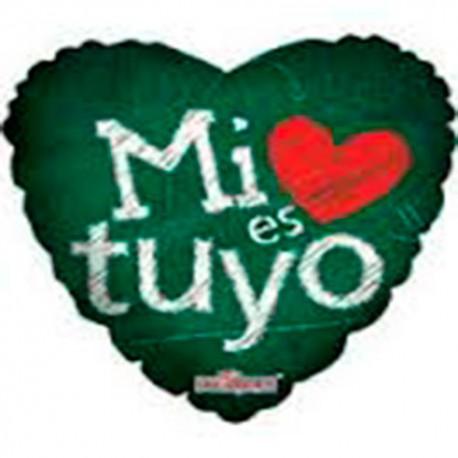 """Globos de foil de 9"""" Mi Amor Es Tuyo"""