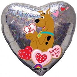 """Globos de foil de 18"""" Scooby Enamorado Holographic"""