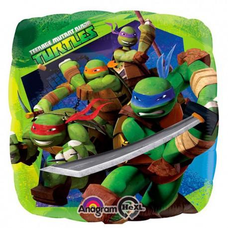 "Globos de foil de 18"" Tortugas Ninja"