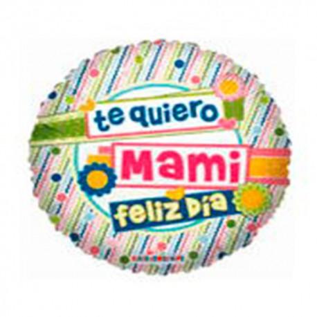 """Globos de foil de 9"""" Te Quiero Mami"""