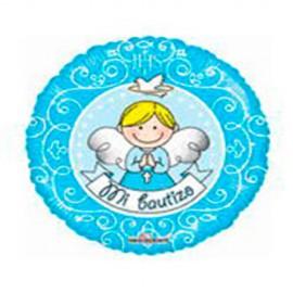 "Globos de foil Mini 9"" (23Cm) Bautizo Angel Azul"