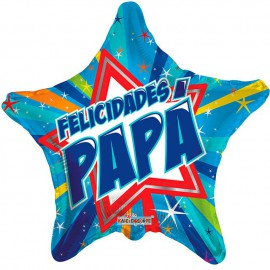 "Globos de foil de 18"" (46Cm) Felicidades Papa Estrella"
