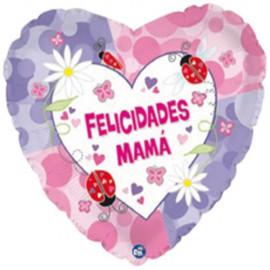"""Globos de foil de 18"""" (46Cm) Felicidades Mama"""