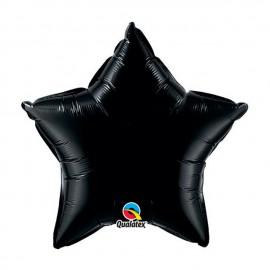 """Globos de foil Estrella de 20"""" Negro Onyx Qualatex"""