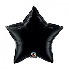 """Globos de foil Estrella de 4"""" Negro Onyx Qualatex"""