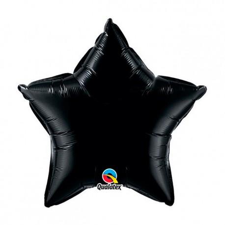 """Globos de foil Estrella de 9"""" Negro Onyx"""