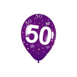 Globos R-12 (30Cm) Número 50 Surtidos