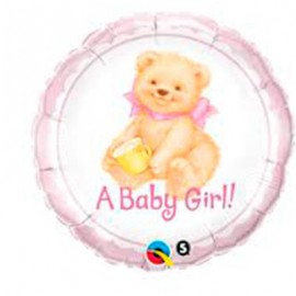 """Globos de foil de 18"""" Osito Baby Girl"""