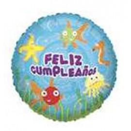 """Globos de foil de 18"""" (45Cm) Cumpleaños Bajo el Mar"""