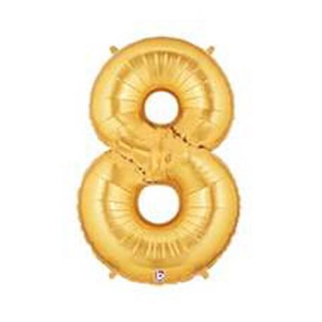 "Globos de Foil de 14"" (36cm) Numero 8 ORO"