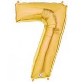 "Globos de Foil de 14"" (36cm) Numero 7 ORO"