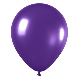 "Globos redondos de 12"" Violeta Metálico"