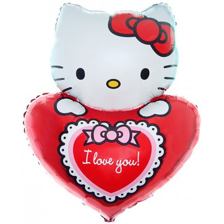 Globos de foil supershape Hello Kitty Love You