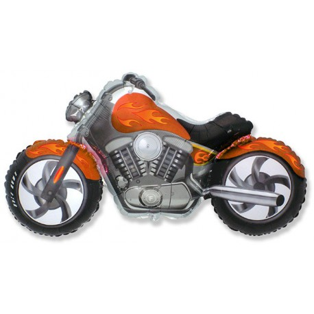 Globos de foil Supershape Moto Custom Naranja