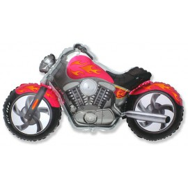 Globos de foil Supershape Moto Custom Fucsia
