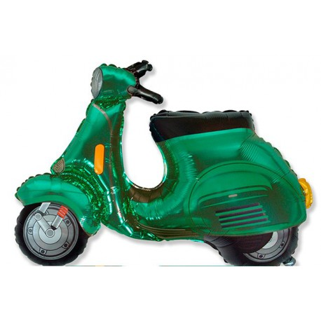 Globos de foil Supershape Moto Scooter Azul