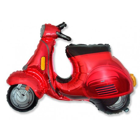 Globos de foil Supershape Moto Scooter Roja