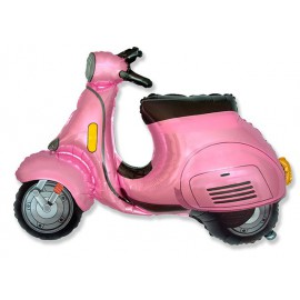 Globos de foil Supershape Moto Scooter Rosa