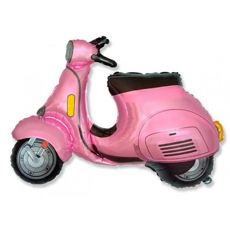 Globos de foil Supershape Moto Scooter Rosa