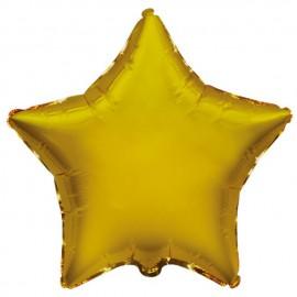 """Globos de foil Estrellas 18"""" Oro"""