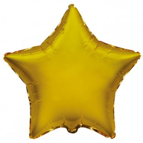 """Globos de foil Estrellas 9"""" Oro"""