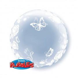 "Globos de foil de 24"" Bubbles Rosas Y Mariposas"