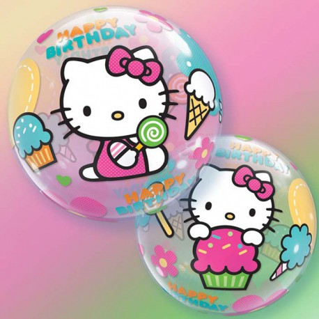 """Globos de foil de 22"""" Bubbles Hello Kitty"""