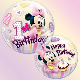 "Globos de 22"" Bubbles Minnie 1st"