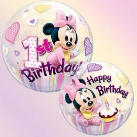 """Globos de foil de 22"""" Bubbles Minnie 1st"""