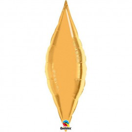 "Globos de foil TAPER 13"" Oro Qualatex"