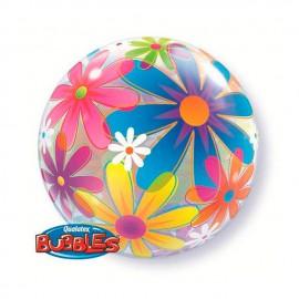 """Globos de 22"""" Bubbles Flores"""