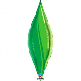 "Globos de foil TAPER GREEN LEAF 13"" Qualatex"