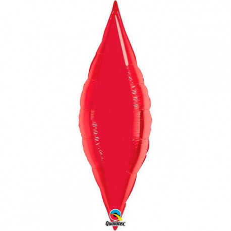 "Globos de foil TAPER 13"" Rojo Ruby Qualatex"