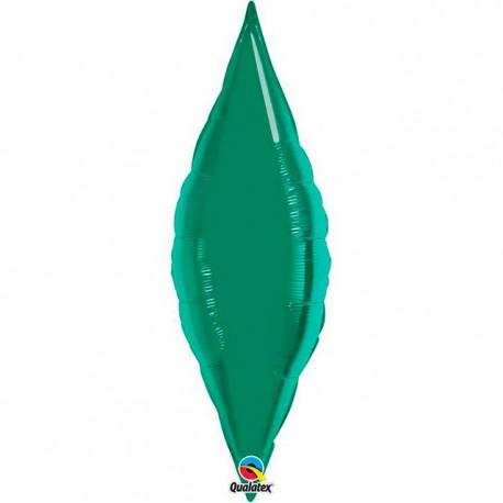 "Globos de foil TAPER 13"" Verde Esmeralda Qualatex"