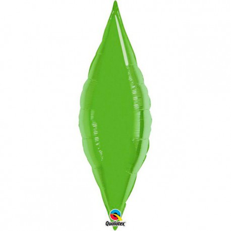 "Globos de foil TAPER 13"" Verde Lima Qualatex"