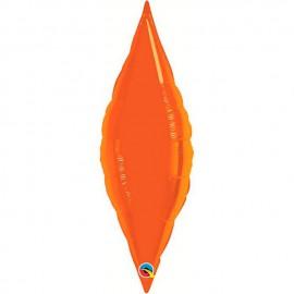 """Globos de foil TAPER 13"""" Naranja Qualatex"""