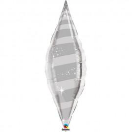 "Globos de foil TAPER SWIRL 38"" Plata Qualatex"