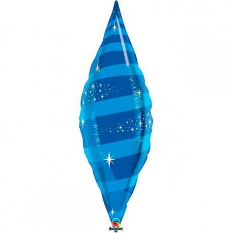 "Globos de foil TAPER SWIRL 38"" Azul Zafiro Qualatex"