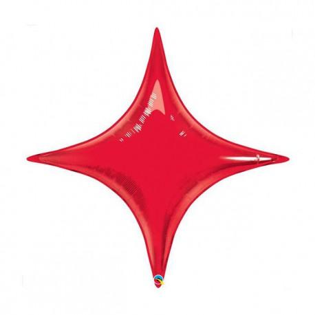 "Globos de foil STARPOINT 20"" Rojo Ruby Qualatex"