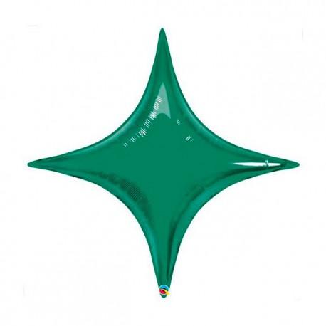 "Globos de foil STARPOINT 20"" Verde Esmeralda Qualatex"