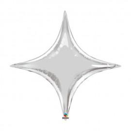 "Globos de foil STARPOINT 40"" Plata Qualatex"