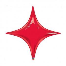 "Globos de foil STARPOINT 40"" Rojo Ruby Qualatex"