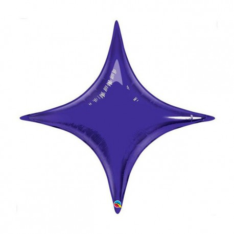"Globos de foil STARPOINT 20"" Quartz Purple Qualatex"