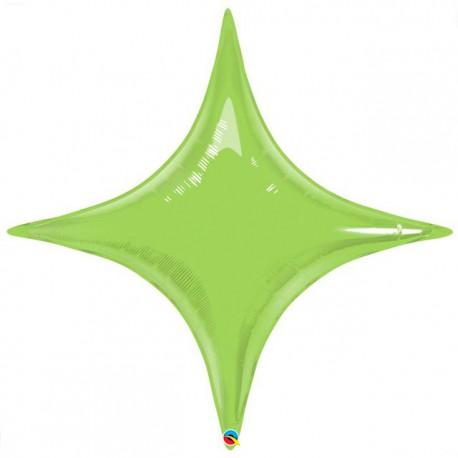 "Globos de foil STARPOINT 40"" Verde Lima Qualatex"