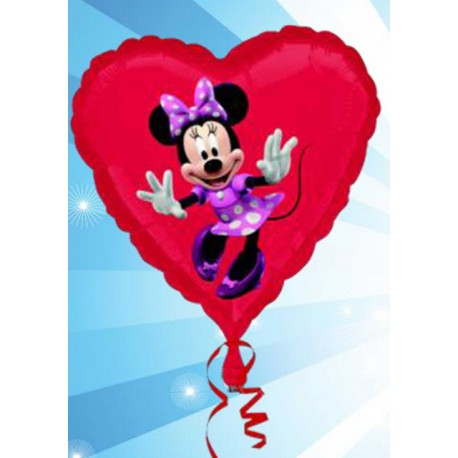 "Globos de foil Corazón de 18"" Minnie"
