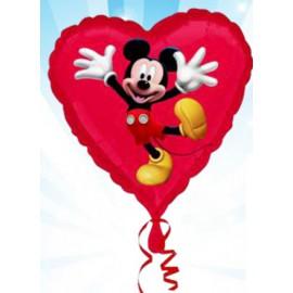 """Globos de foil Corazón de 18"""" Mickey"""